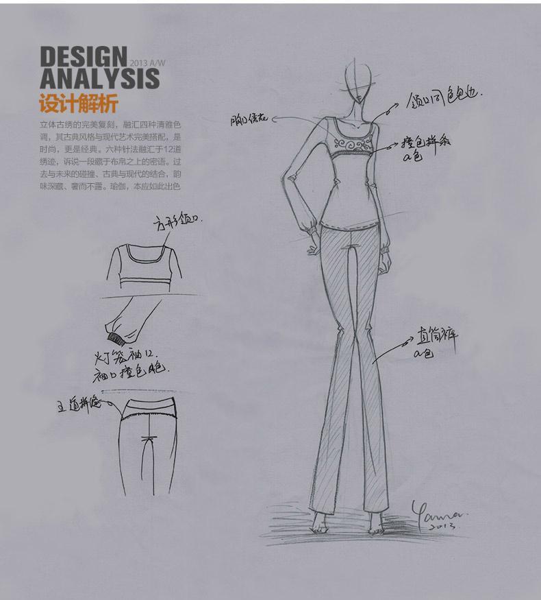 服装款式设计图裙子展示