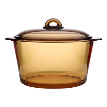 乐美雅法国进口琥珀超耐热玻璃直烧玻璃锅5L-L7535