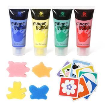 儿童手指画颜料可水洗画板绘画套装水粉颜料宝宝画画水彩 120223