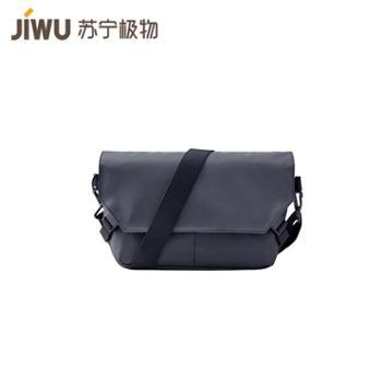 【苏宁极物】玩趣潮流运动休闲斜挎包背包 黑色