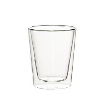 【苏宁极物】双层隔热玻璃杯350ml