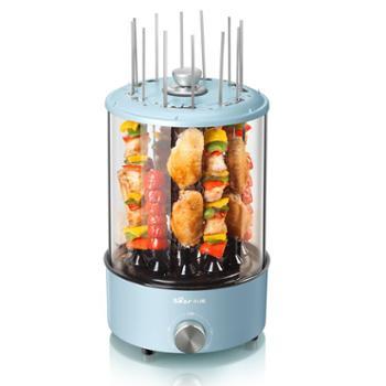 小熊(Bear)电烧烤炉家用电烤炉电烤盘烤串机韩式烤肉锅 自动旋转烤架 DKL-S11A1蓝色