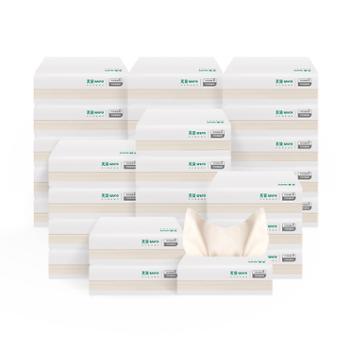 【苏宁极物】无染竹纤维本色抽纸实惠装3层 30包/装