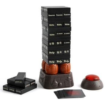特宝儿木质叠叠高积木玩具早教益智叠叠高抽抽乐