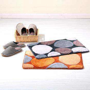 凯诗风尚 鹅卵石超柔地垫 门垫 浴室防滑地巾 多色可选