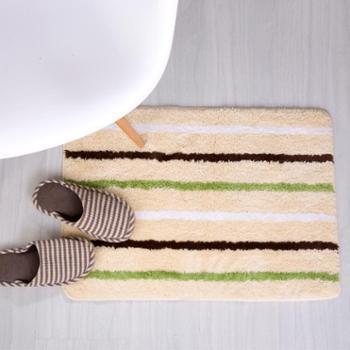 凯诗风尚清新条纹系列地垫门垫脚垫地垫耐脏卫浴浴室防滑垫进门脚踏垫【善融六周年】