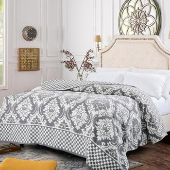 凯诗风尚全棉四层纱布盖毯双面棉亲肤柔软吸汗透气空调盖被沙发盖毯200*230cm