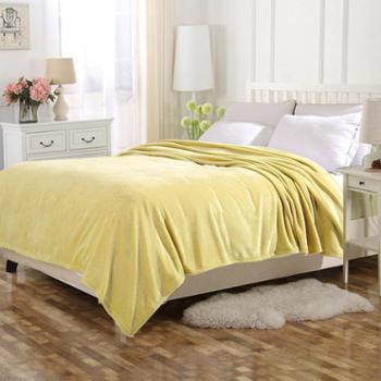 优享惠凯诗风尚精品法兰绒毯盖毯舒适毯子欧美专柜同款毛毯