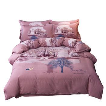 凯诗风尚 中国风全棉磨毛四件套 舒适双人保暖床品