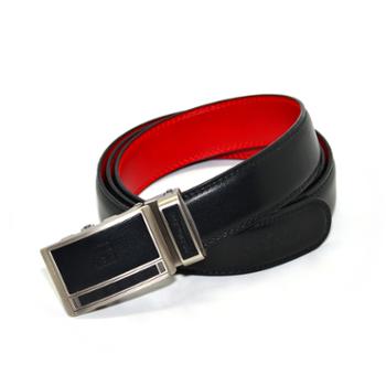 本命年男士皮带红腰带裤带头层牛皮自动扣黑色红色开运保平安平安是福红腰带A扣