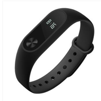 小米(MI)小米手环2智能运动心率监测来电提醒久坐提醒LED显示屏时间显示防水计步器无感腕带