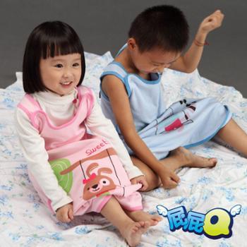 枕水人家宝宝婴儿睡袋儿童大童防踢被春秋薄款纯棉春夏季小孩