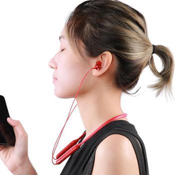 睿量S17无线蓝牙耳机运动跑步听歌健身防水双耳耳塞式入耳式颈挂脖式脑后式oppo苹果通用迷你重低音