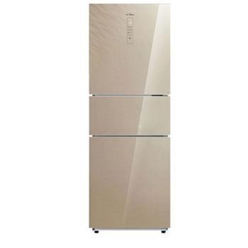 龙支付 美的(Midea)冰箱BCD-260WTGPZM 风冷无霜260升三门冰箱智能变频 流纱金