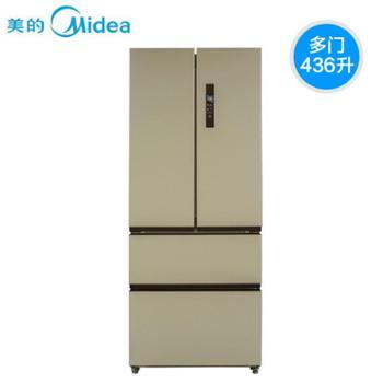 .Midea美的 BCD-436WTM 436升双门冰箱家用多门式电冰箱 芙蓉金