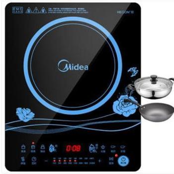Midea美的KT2116超薄电磁炉家用正品触摸式智能火锅电池灶