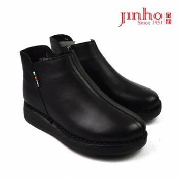 金猴女鞋490239A真皮女短靴