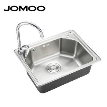 JOMOO九牧 厨房水槽 进口不锈钢 水槽套餐单槽 洗菜盆 02080