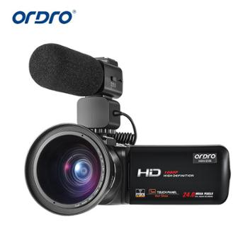 Ordro/欧达 Z20摄像机高清4K广角数码专业dv摄录婚庆机wifi麦克风