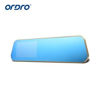Ordro欧达T1C行车记录仪4.3英寸前后双录1080P夜视148度广角
