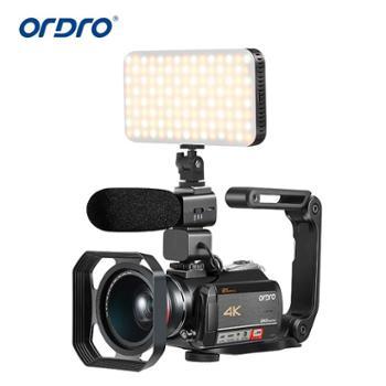 Ordro欧达 AC5智能4K高清数码摄像机DV12倍光学变焦防抖专业