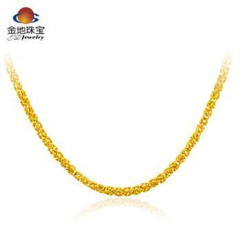 金地珠宝 足金智轩男士项链 四方泰国链