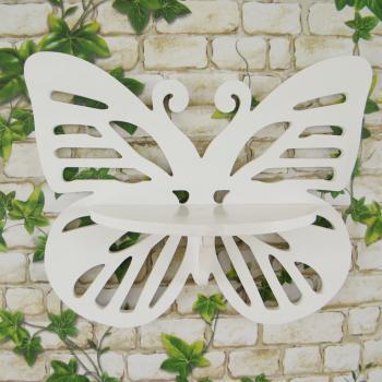 自由色彩悬挂蝴蝶镂空托架田园风格异形置物架创意隔板壁架