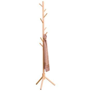 宝优妮实木衣帽架卧室创意衣架家用包架衣服架落地客厅门厅挂衣架DQ9047-11