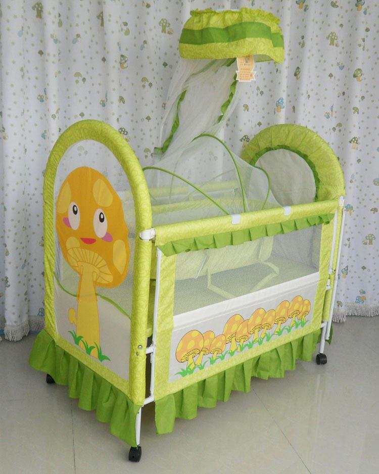 酷豆丁可爱婴儿床宝宝床送摇篮