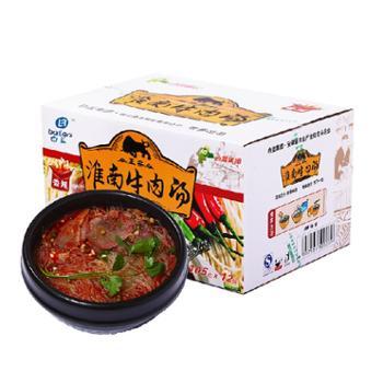白蓝味中味淮南牛肉汤方便粉丝12桶箱装105g*12(香辣味)