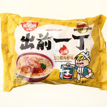 香港进口出前一丁品质即食面 辛辣XO酱海鲜味100g方便面
