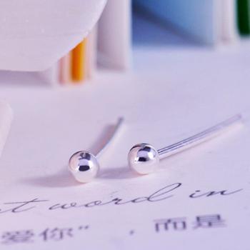 钻金森耳钉原创925纯银免耳堵养耳针时尚耳饰防过敏