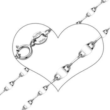 18K白金玫瑰金彩金项链时尚百搭瓦片项链送女友老婆礼物