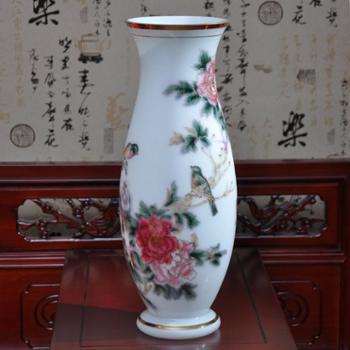 红海玻璃鸟语花香花瓶纯手工工艺品家居饰品创意礼物礼品摆件包邮