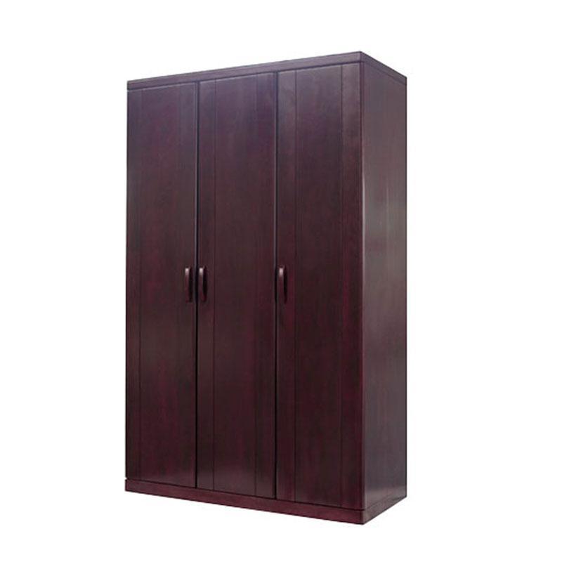 双叶家具 卧室衣柜 现代实木大衣柜三门