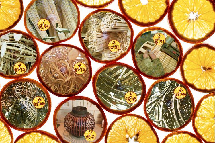 漫邸美式經典竹藝花瓶花器 歐式客廳落地花瓶 會所假花花瓶擺件