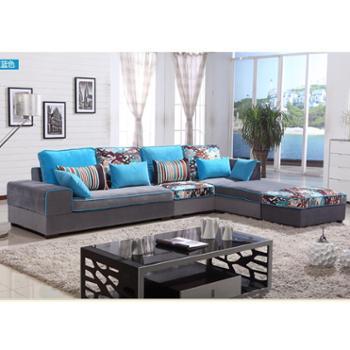 新款现代简约组合转角客厅L型布艺沙发大小户型厂家特价直销