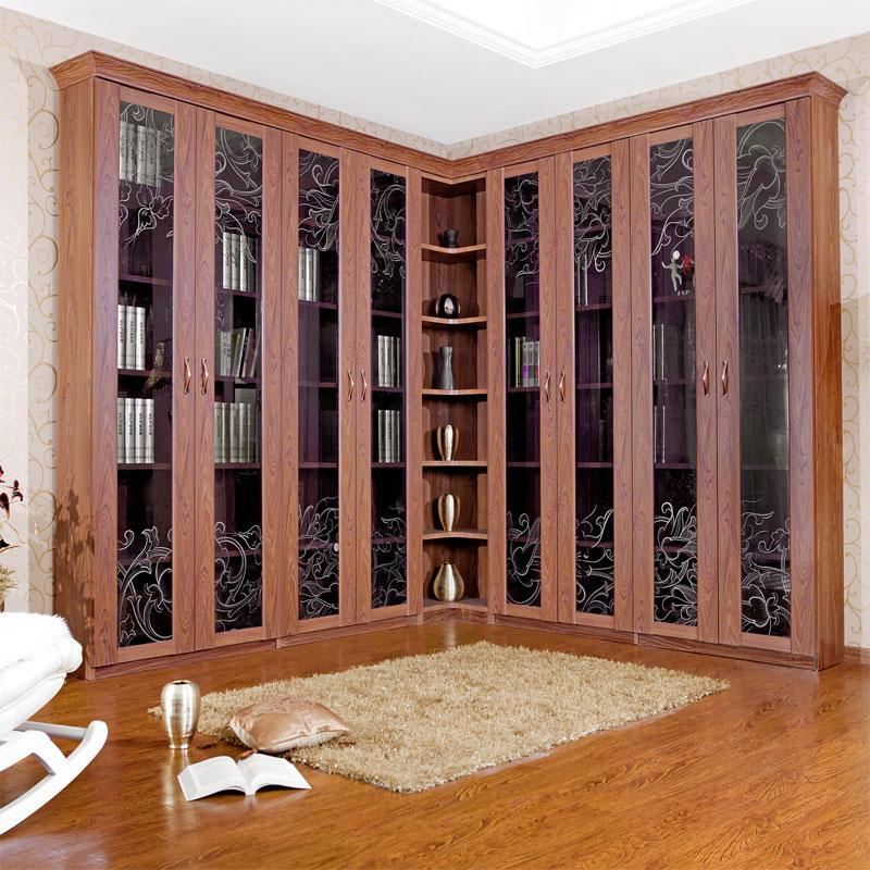 福全屋定制家具书柜书桌定制多瑙河系列书柜简欧风格