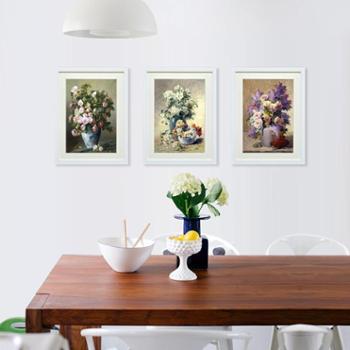 进口装饰画餐厅饭厅过道挂画有框画静物装饰画春天插满鲜花的花瓶G112