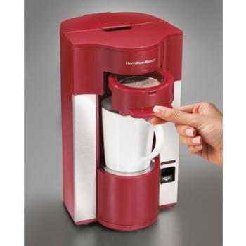 HAMILTON BEACH汉美驰咖啡机单杯式红色49991-CN