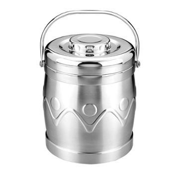 兴财真空保温提锅 304不锈钢双层饭盒 保温桶/便当 2L
