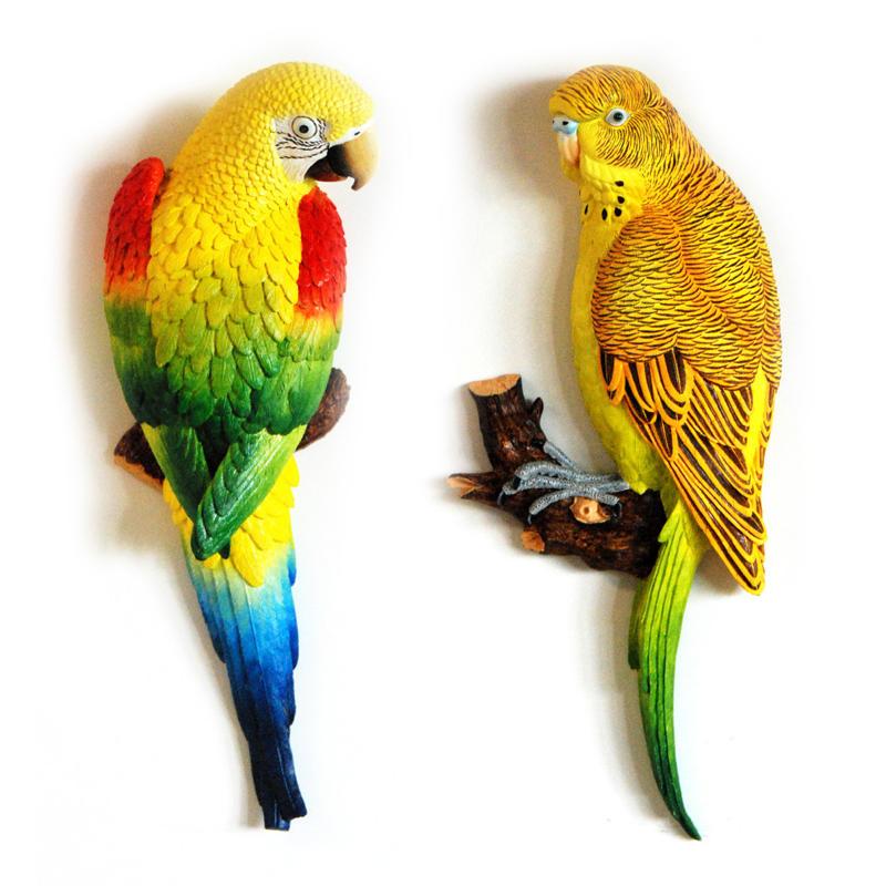 环保树脂工艺礼品--鹦鹉5---家装墙壁装饰工艺品挂件