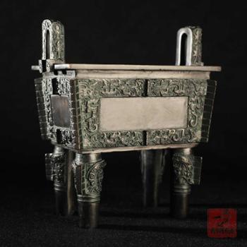 后母戊方鼎石开青铜铸造铜鼎摆件仿古青铜器工艺品定制礼品