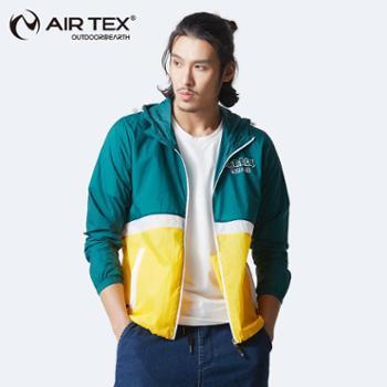 AIRTEX亚特户外抗皱防泼水男款防风皮肤衣休闲外套AT1A18M2081