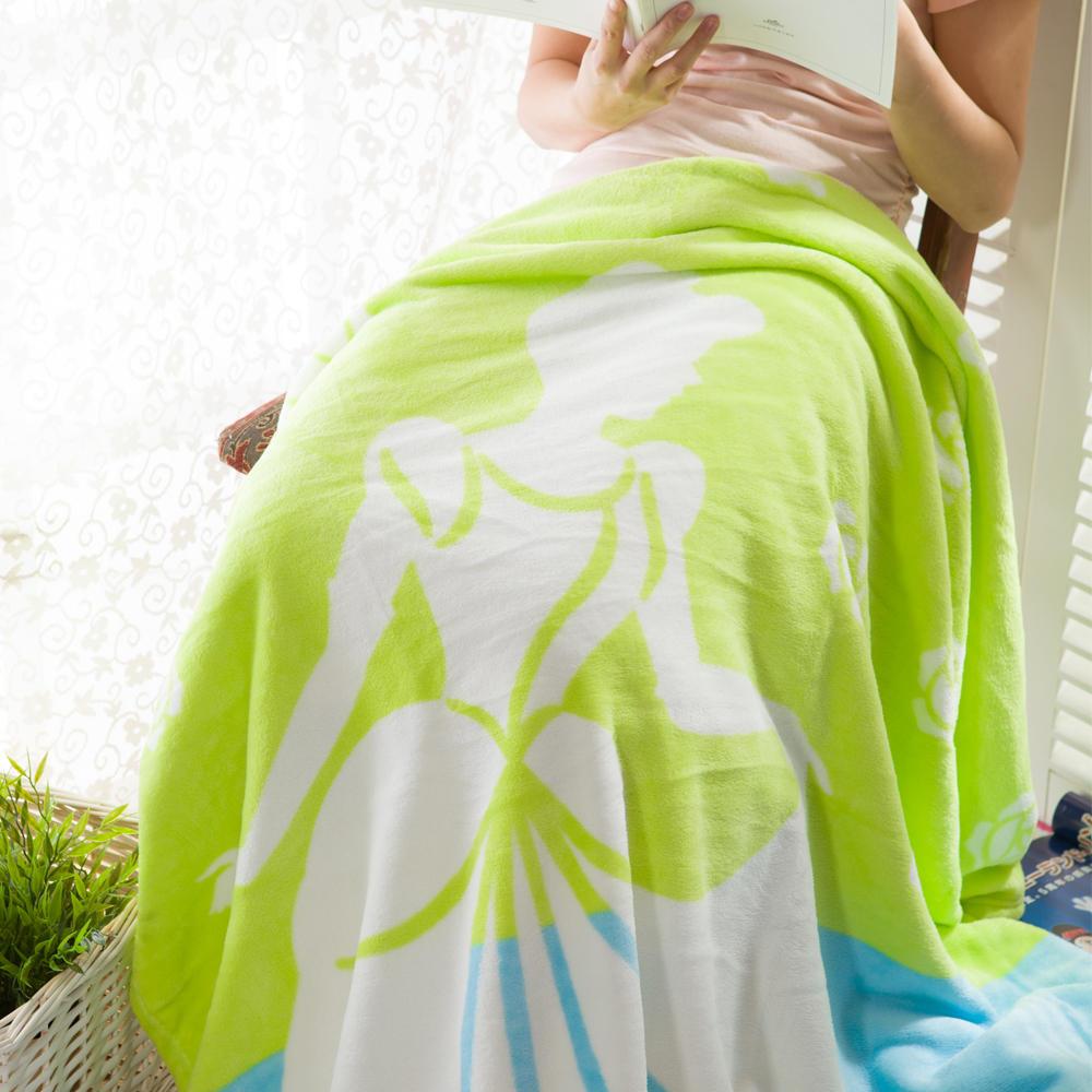 迪士尼公主水晶鞋珊瑚绒毯(绿色)