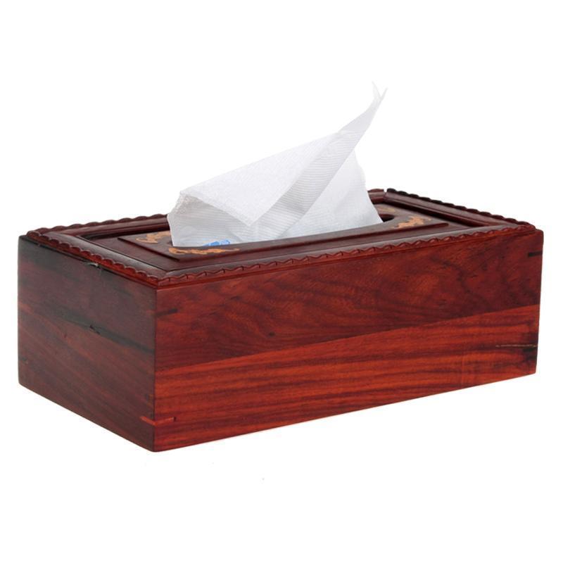 红木纸巾盒红酸枝抽纸盒长方形餐巾纸盒