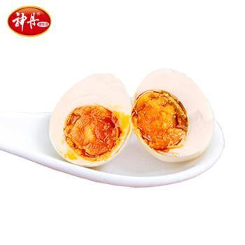 神丹品牌鹌鹑咸蛋48枚宗流油小咸蛋独立真空装休闲零食