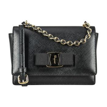 Ferragamo菲拉格慕女式黑色牛皮手提单肩两用包21G231656046