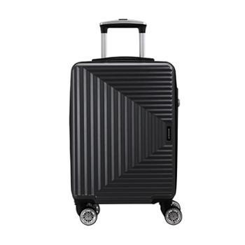 瑞动时尚拉链20寸登机箱MT-5251-02T00黑色