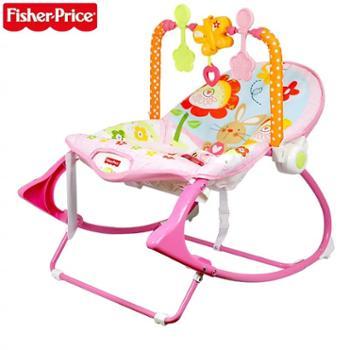 费雪婴儿多功能粉嫩安抚轻便摇椅Y4544